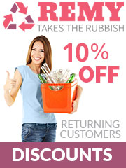 Remy Takes The Rubbish 10% Off for returning customers